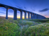 UK, England, North Yorkshire, Ribblehead Viaduct on the Settle to Carlisle Railway Line
