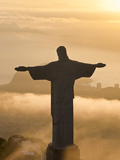 Statue of Jesus, known as Cristo Redentor (Christ the Redeemer), on Corcovado Mountain in Rio De Ja
