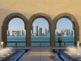 Qatar, Doha, Doha Skyline from Museum of Islamic Art