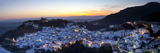Casares at Sunset, Casares, Malaga Province, Andalusia, Spain