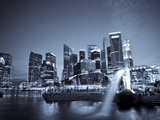 Singapore, Merlion Park and Singapore Skyline