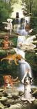 Yoga Dogs-Waterfall Door Poster