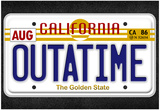 OUTATIME License Plate Movie Poster