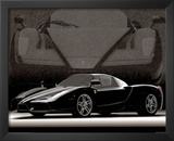 2004 Ferrari Enzo Black Car Art Print Poster