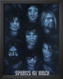 Spirits of Rock (Jim Morrison Jerry Garcia Kurt Cobain Joey Ramone Keith Moon Hutchence) Poster