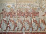 Painted Carvings on the Second Level of the Temple of Hatshepsut (Deir Al-Bahn)