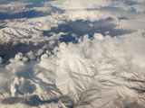 Aerial Image of Snow Covered Mountains in Iran