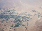 Aerial View of the Landscape and Irrigated Fields of Iran