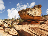 A Balanced or Mushroom Rock in South Mule Canyon, Cedar Mesa, Utah, USA