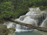 Seven Step Waterfall in the Monsoon Forest of Erawan National Park, Thailand