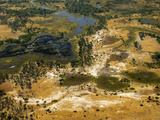 Aerial Photography of the Okavango Delta, River Channel