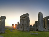 Stonehenge at Sunrise Near the Time of the Summer Solstice, Salisbury Plain, England