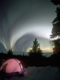 Aurora Borealis, Northern Lights, Alaska Mountain Range, Alaska, North America, USA