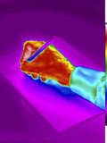 Thermogram of a Hand Writing