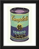 Campbell's Soup Can, 1965 (Green and Purple) Framed Art Print