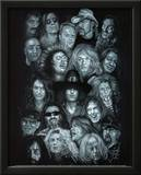 Metal Heroes (Ozzy Scott Ian Metallica Lemmy David Lee Roth Van Halen Led Zeppelin) Poster