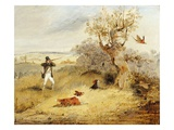 Pheasant Shooting (Oil on Canvas) Giclee Print