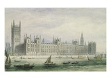 The Houses of Parliament (Graphite, Pen and Ink and W/C on Paper)