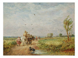 Going to the Hayfield, 1853 (Oil on Millboard)