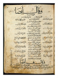 Ms.B86 Fol.55B Poem by Ibn Quzman (Copy of a 12th Century Original) (Ink on Paper)