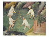 Haymaking in the Month of June, Detail (Fresco)