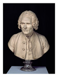 Bust of Jean Jacques Rousseau (1712-78) (Terracotta)