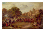 Visit of King James I to Hoghton Tower in 1617 (Oil on Canvas)