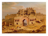 Inside the Main Entrance of the Purana Qila, Delhi, 1823 (Oil on Canvas)