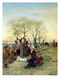 Funeral Repast at the Grave, 1884 (Oil on Canvas)