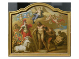 Allegory of the Power of Great Britain by Land, Design for a Decorative Panel