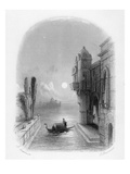 Moonlit Scene in Venice, Engraved by Robert Brandard, 1846 (Engraving)