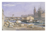 The Pont Au Change and the Conciergerie, Paris, 1837 (W/C on Paper)