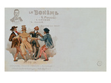 Commemorative Postcard of the Opera 'La Boheme', by Giacomo Puccini (1858-1924) (Colour Litho)