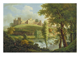 Ludlow Castle with Dinham Weir, from the South-West, C.1765-69 (Oil on Canvas)