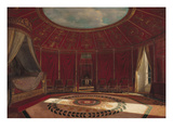 The Empress Josephine's (1763-1814) Bedroom at Malmaison, 1870 (Oil on Panel)