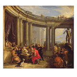 Concert in a Circular Gallery, C.1718-19 (Oil on Canvas)