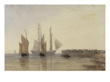 Entrance to Calais Harbour, 1829 (W/C, Pen and Ink, Bodycolour and Pencil on Paper)