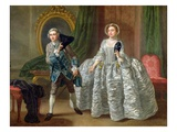 David Garrick and Mrs Pritchard in 'The Suspicious Husband' by Benjamin Hoadley (1676-1761) 1747