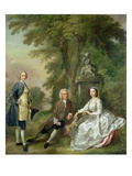 Jonathan Tyers (D.1767) and His Daughter, Elizabeth, and Her Husband, John Wood, C.1750-52