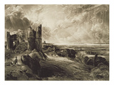 Hadleigh Castle, Engraved by David Lucas (1802-81) C.1832 (Mezzotint with Etching)