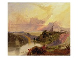 The Avon Gorge at Sunset (Oil on Paper)
