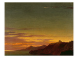 Close of the Day: Sunset on the Coast, C.1768-75 (Oil over Graphite on Laid Paper)