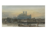Westminster from Lambeth, C.1813 (W/C over Graphite with Scratching Out on Paper)