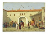 Caravanserai at Mylasa, Turkey, 1845 (Oil on Panel)