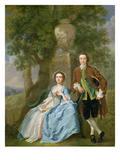 Portrait of George and Margaret Rogers, C.1748-50 (Oil on Canvas) (See also 111971)
