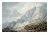 Between Lyme Regis and Charmouth Giclee Print