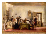 Sketch for 'The Reading of a Will', C.1820 (Oil on Board)