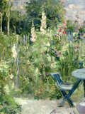 Roses Tremieres (Hollyhocks), 1884 (Oil on Canvas) Giclee Print