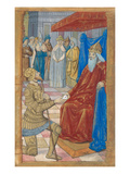 King David Handing the Letter to Uriah (Vellum)