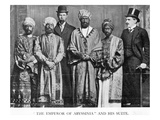 The Emperor of Abyssinia and His Suite', the Dreadnought Hoax, 7th February 1910 (B/W Photo)